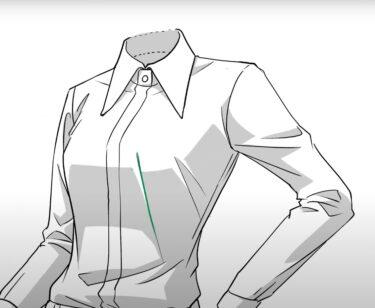 ワンポイントレッスン<服の生地によるシワの描き方>